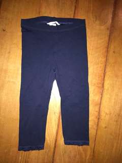 H&M 4-5y basic Navy Blue Cropped Lace Leggings