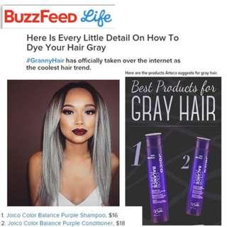 Joico Color Balance Purple Shampoo  for Blonde & Gray SIlver Hair