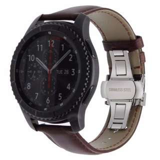 Samsung Gear S3 (ITALIAN GENUINE LEATHER WATCHBAND QUICK RELEASE STRAP)