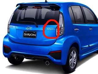 Perodua Myvi / Daihatsu Sirion Original Emblem Badge