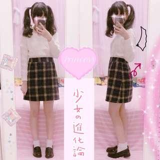 🚚 日系 格子 復古 包臀 短裙 mussa 軟妹