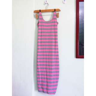 Pink Stripe Sexy Dress