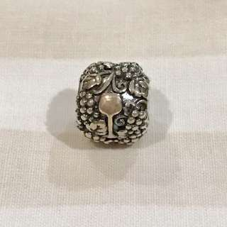 Pandora Wine & Grapes charm