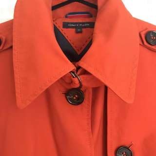 Tommy Hilfiger orange trench coat