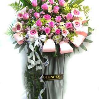 Flower ACond020  Condolence Stand