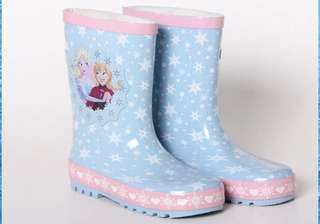 Frozen rain boots shoes children girls school