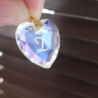Swarovski Heart Pendant ~ Distributed by Selangor Pewter