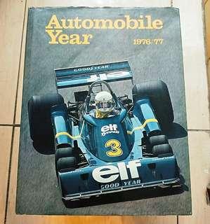 Automobile year book 1976/77 賽車年報 F1 Rally Lemans Tamiya 模型參考書
