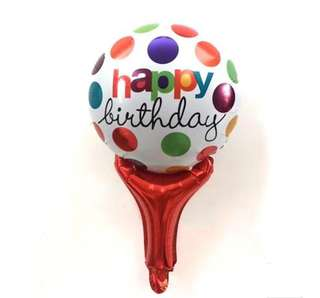 🌈 Generic Happy Birthday Party Supplies - Happy Birthday Handheld Balloons / birthday gift / goodie bag gift