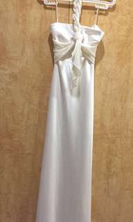 Daniel Yam White Bridal Beach/Semi Formal/Cocktail/Long Gown (Imported, bought in Singapore) - Prom, Bridesmaid, Wedding, Evening Gala