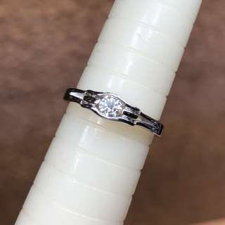 周生生 18kt diamond ring 鑽石戒指