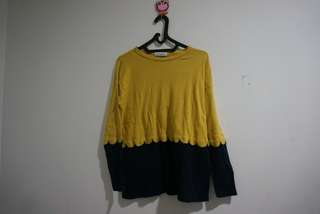 Cotton ink knit top