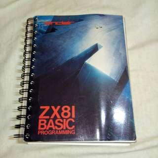 Vintage Computing: Sinclair ZX81 BASIC Programming Book.