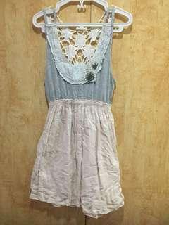 Zara grey and pink summer dress