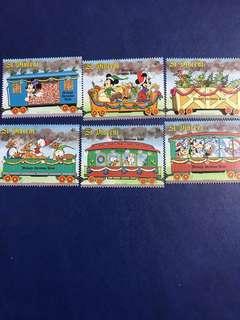 聖文森 外國郵票 米奇唐老鴨過聖誕節系列 6全