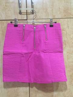 H&M Bodycon Pink Mini Skirt