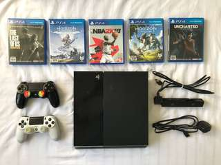 PS4 500GB w/ Games! RUSH!