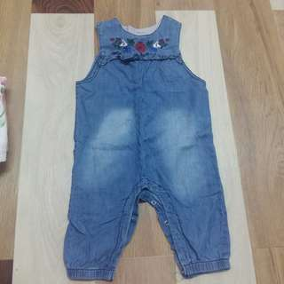Preloved baby jumpsuit jeans