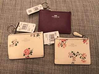 Coach coin bag key holder