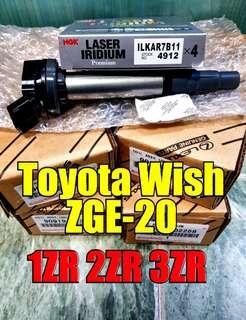 Toyota wish ZGE-20 + NGK LASER IRIDIUM (suitable for all 1ZR 2ZR 3ZR engine)