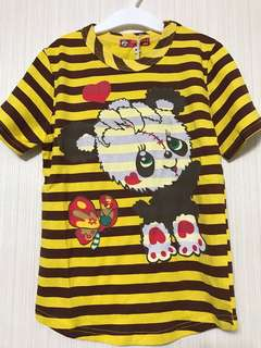 🚚 正版日本Grand Ground童裝-6y黃色條紋