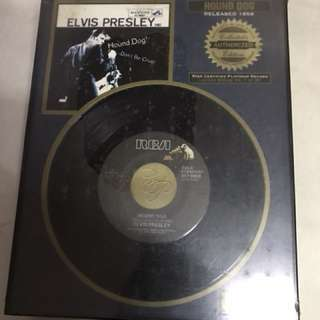 Elvis disc frame- teddy bear