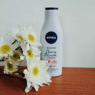 Authentic NIVEA Oil in Lotion Cherry Blossoms