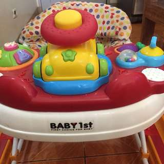 4-in-1 baby walker (serves as walker, toy, baby food tray and rocker)