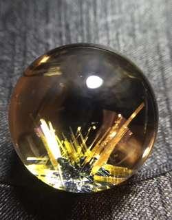 Brazilian natural titanium flower ball pendant.