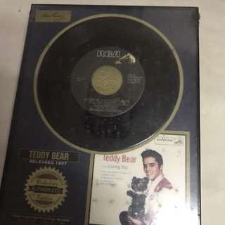 Elvis disc frame- hound dog
