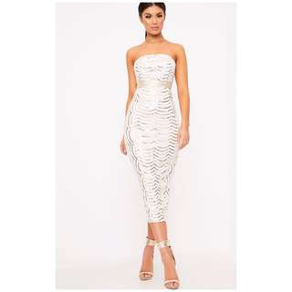 Brand new crochet and sequin midaxi gown