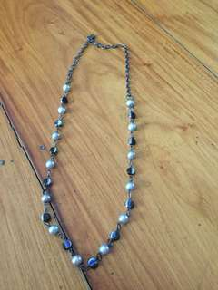Black and Silver Tone Necklace