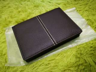 (New) Brown Leather Card Holder
