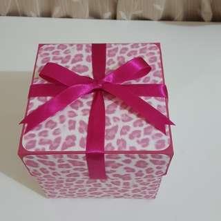 現貨 爆炸卡 禮物盒  豹紋粉