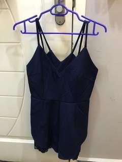 Blue lacey jumpsuit