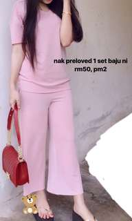 One set blouse pant (softpink)