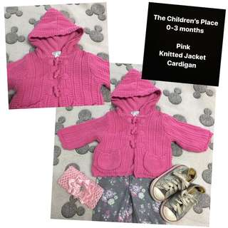 Pink Knitted Jacket Cardigan