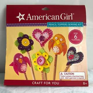 American Girl Pencil Toppers Sewing Craft Kit