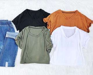 Crop basic shirt