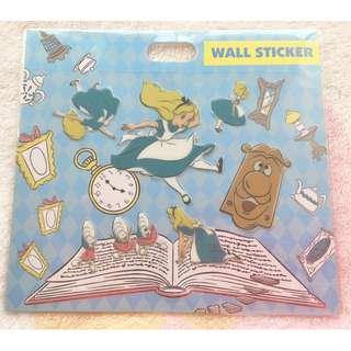 日本版 - Disneystore Alice in wonderland Wall Sticker 迪士尼迪士尼愛麗絲牆用貼子 貼紙