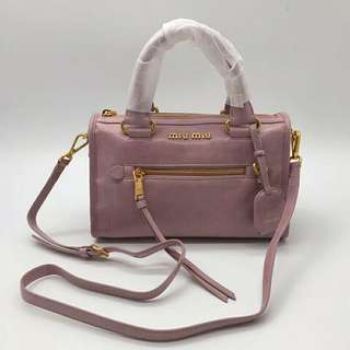 MIU MIU 5BB104 VITELLO SHINE BAULETTO BAG