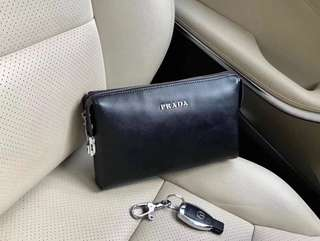 Prada man clutch