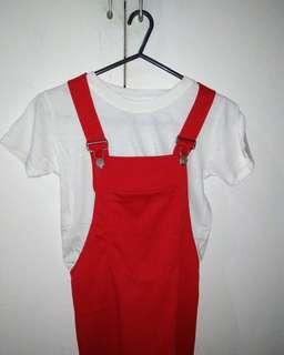Red Jumpskirt