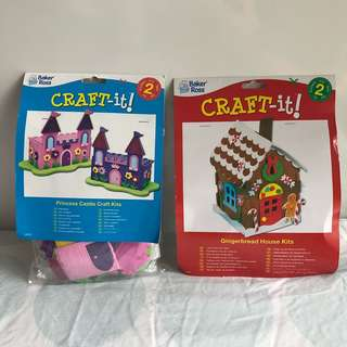 BN Craft-it! Princess Castle Craft Kit and Gingerbread Craft Kit