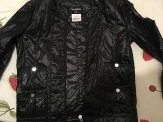 二手Chanel Black Wind Breaker Jacket
