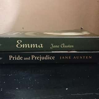 P270 FOR 2 CLASSIC NOVELS! Pride and Prejudice + Emma by Jane Austen