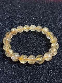 Gold rutilated bracelet (金发金)