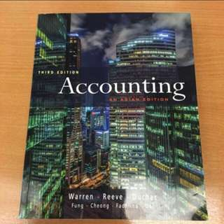 Third Edition Accounting Textbook: An Asian Edition