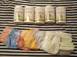 Bamboo nappy liner and cloth diapers