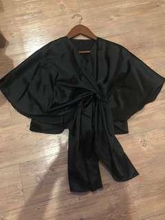 Black crop Shirt